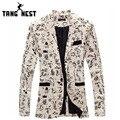 Tangnest traje homme 2017 venta caliente de la personalidad ocasional de los hombres delgados blazer moda todos avenido chaqueta hombres chaqueta floral mwx337