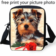 3d photo picture design bag custom kindergarten small Messenger mini schnauzer kennel heart kitten customized shoulder
