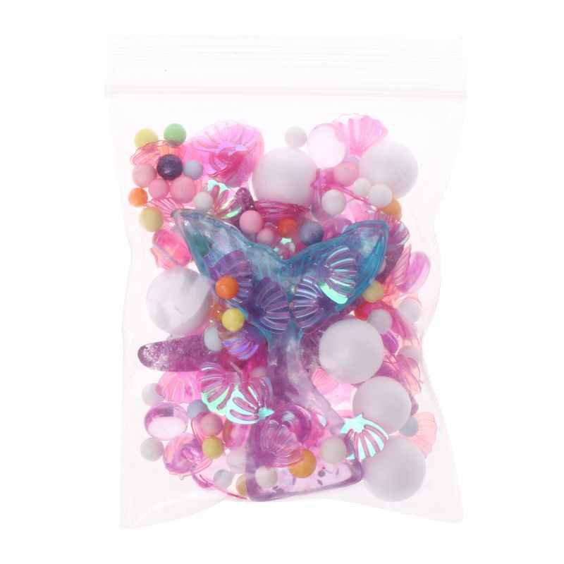 Mermaid Tail Small Shell Slime Beads Foam Beads Slime Balls Supplies Slime Accessories For Foam Fluffy Slime Crystal Mud