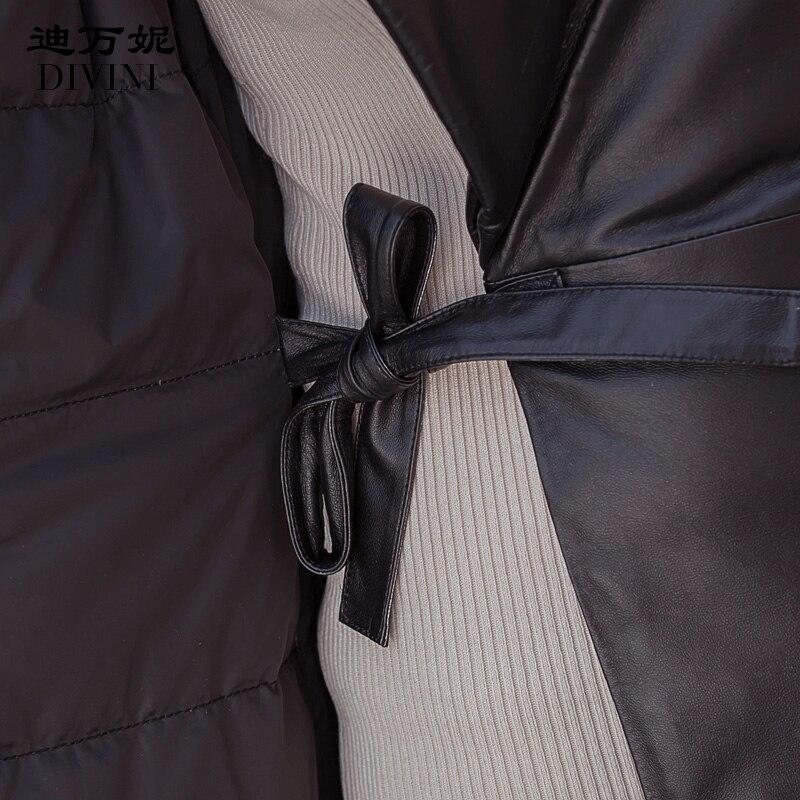 Oveja Abrigos Zt1316 Abajo Abrigo De Black Vintage Cuero Real Más Invierno Genuino 2018 Ropa Tamaño Mujer Coreano Chaqueta Piel Otoño nwZ1qPAUx
