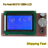 Anet A6 12864 LCD Smart Display Screen Controller Module With Cable For 3d Printer A6 E10