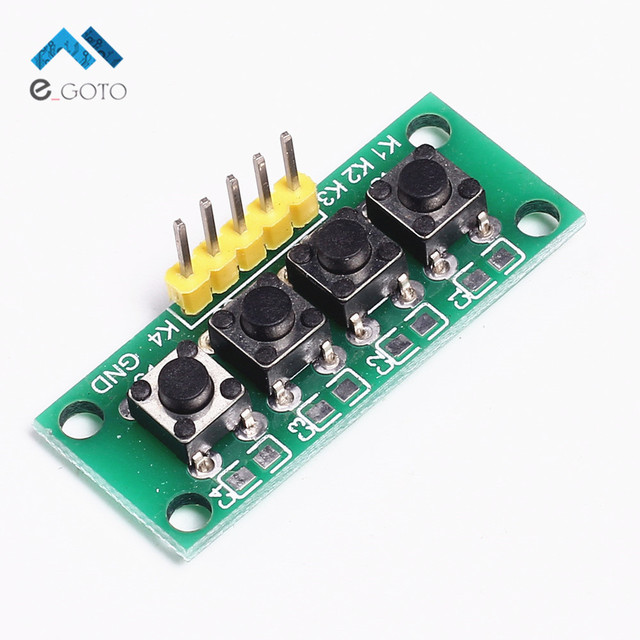 DIY Kit 1x4 4 Independent Key Button Keypad Keyboard Module Mcu for Arduino Student Class Design Graduation Project Experiment