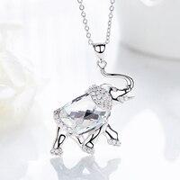 Ожерелье в форме слона с кристаллами Heezen, винтажное ожерелье с австрийским горным хрусталем Sieraden Maken, эффектное ожерелье, подарки для женщин