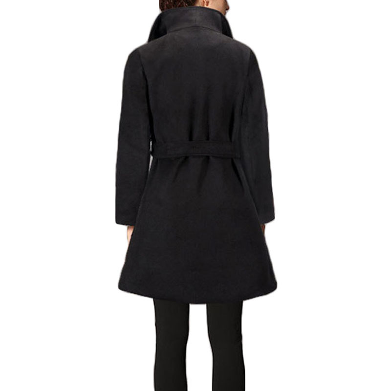 Automne manteau noir AOTEMAN