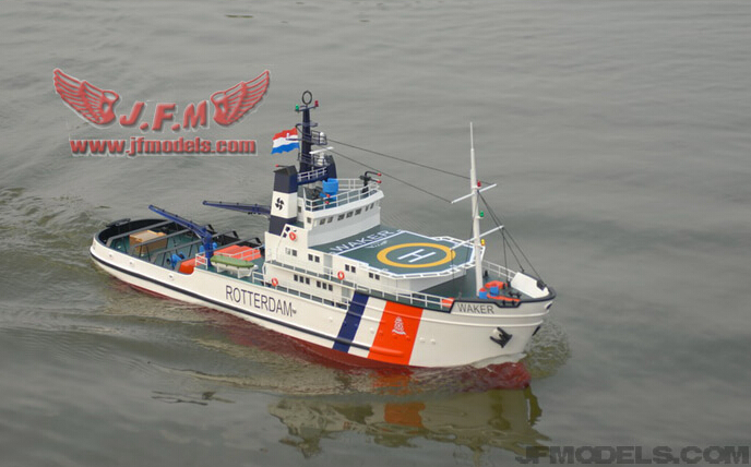 1/70 RC Model boat Rescue boat off the coast of Holland / Simulation of scale tug / Electric ...