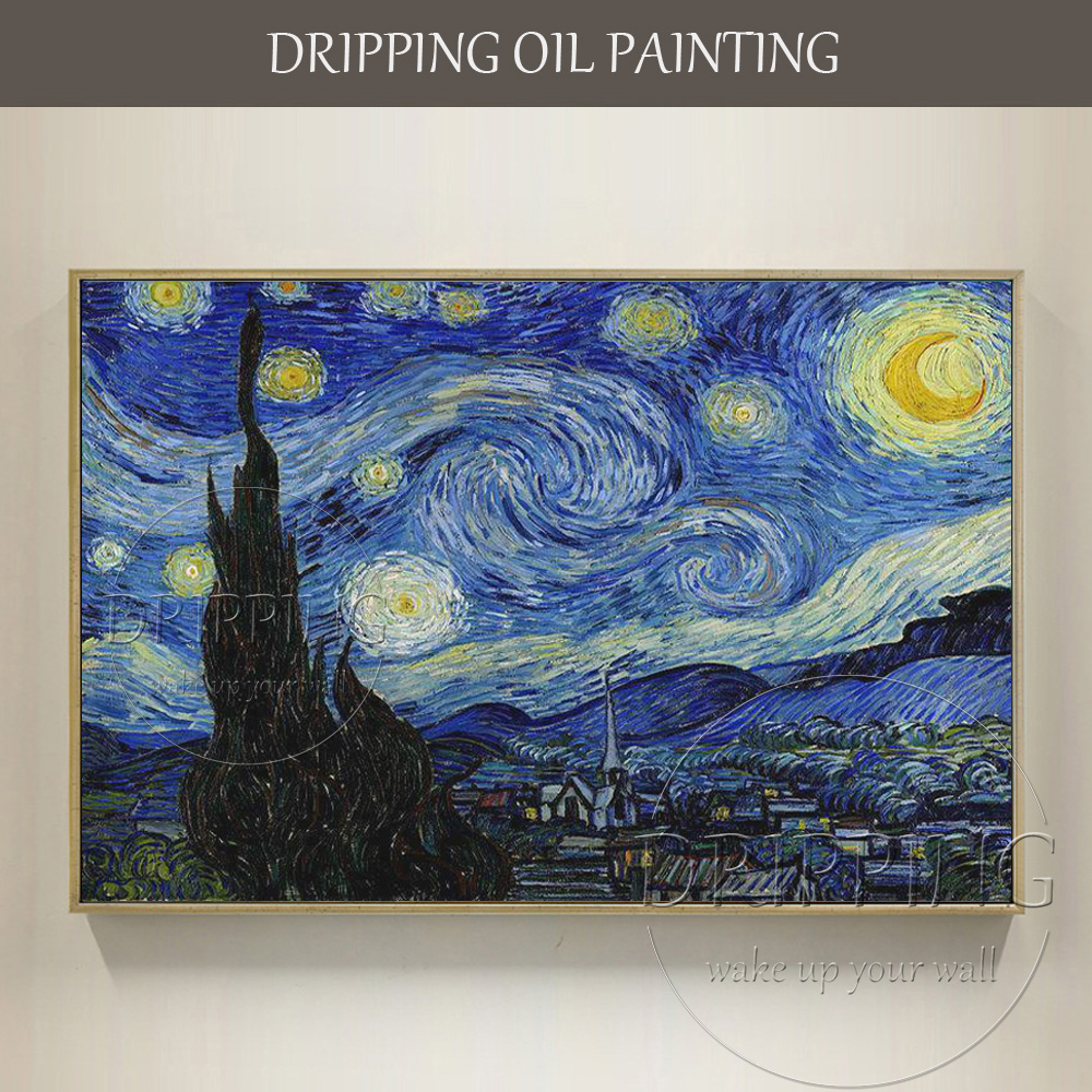 China Top Artist Hand-painted High Quality Impressionist Starry Night Oil Painting Van Gogh Oil Painting Starry Night PaintingChina Top Artist Hand-painted High Quality Impressionist Starry Night Oil Painting Van Gogh Oil Painting Starry Night Painting
