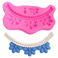Pearl Necklace Shape Cake Decorating Mold Biscuit Wedding Stand Silicone Baking Lace Mat Muffin