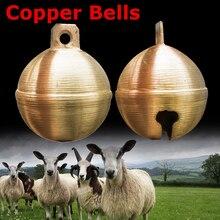 Campanas de cobre para caballos y ovejas de vaca, cascabeles de pastoreo mejorados para animales de ganado, campana de cobre con sonido fuerte
