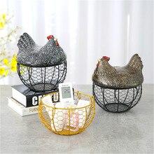 Корзина для хранения куриных яиц из проволочной сетки, керамическая подставка для яиц, куриц, фруктов, пищевых корзин, кухонный органайзер, контейнер, украшения