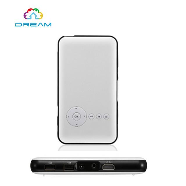 10 unids M6 Android 4.4 DLP LED Proyector Portátil Proyector de cine en Casa Inteligente Caja de la TV WiFi Bluetooth TV digital 1920x1080 P
