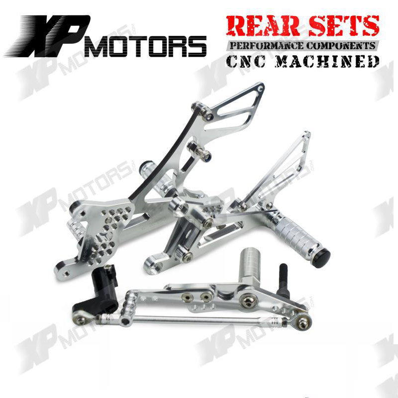 Racing Motorcycle Foot Pegs Rest Footrests Pedal Rear Sets Assembly For Yamaha YZF-R1 YZFR1 2007 2008 YZF R1 Adjustable Rearsets