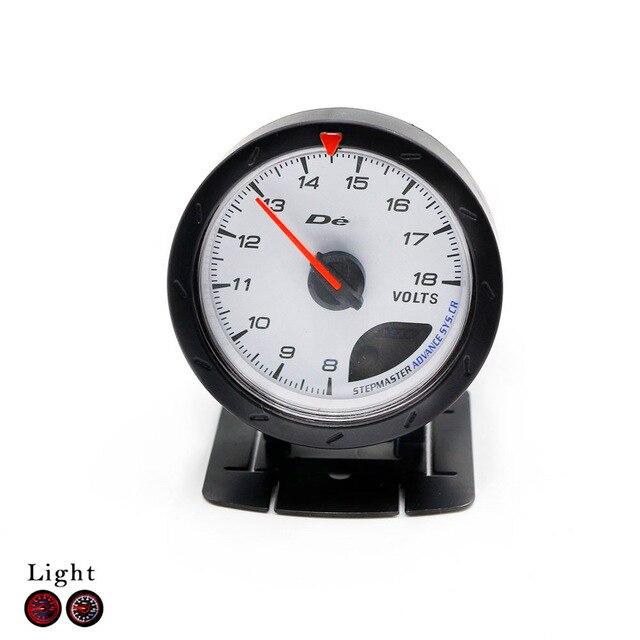 2.5 polegada 60 MM D * FI CR 12 V Volt Medidor de Cara Branca com Red & White Lighting/medidor de tensão/voltímetro