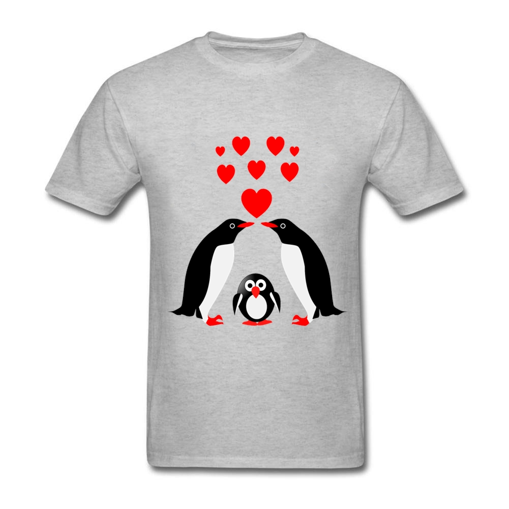 Cheap levis for women - Mens Blank T Shirts Novelty Penguin Family Casual Clothing Cotton Short Sleeve Mens T Shirt Camisetas