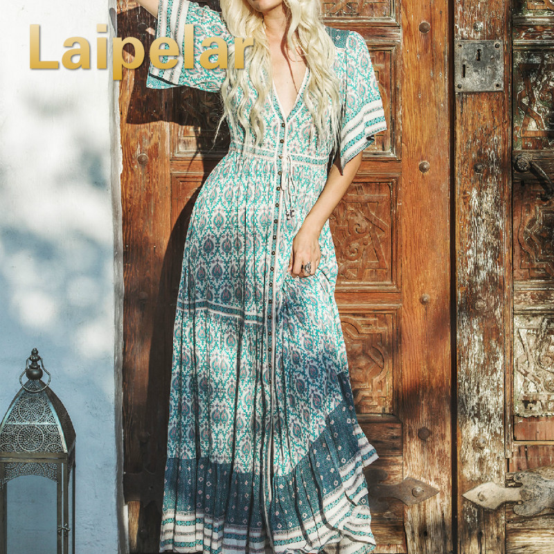 buy online c5847 66fd2 Laipelar-R-tro-Imprim-Boh-me-Longue-Robes-2018-D-t-Femmes -Boho-Maxi-Robe-Dames.jpg