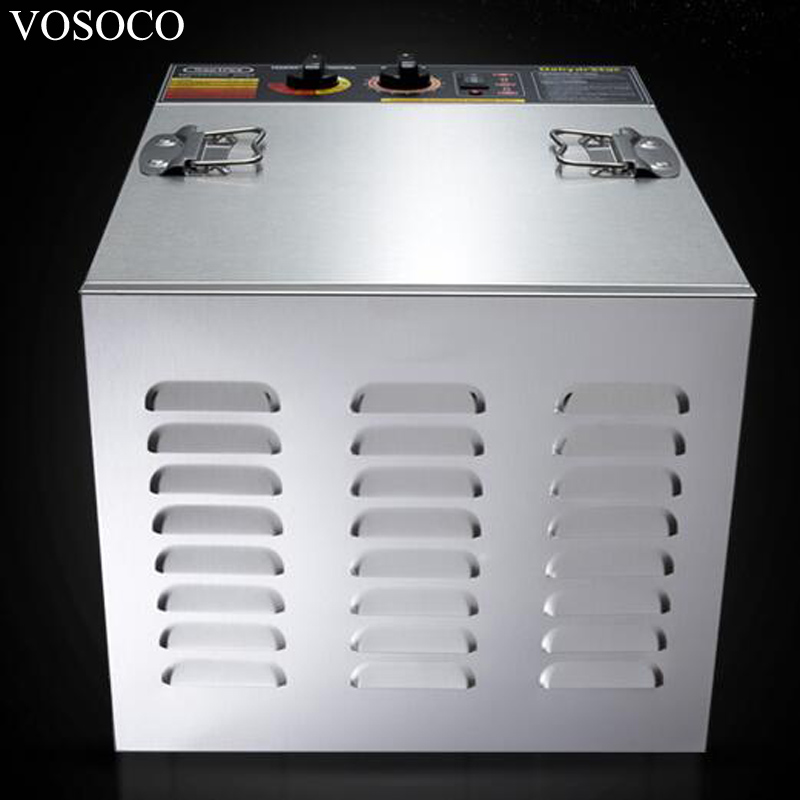 VOSOCO Air drying machine 1000W 10 layer commercial stainless steel fruit vegetable drying pet food drying machine seasoning new automatic stainless steel commercial vegetable