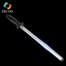 EECOO Diamond Knife Sharpener Stick 600# Steel Professional Chef Knife Sharpener System Knife Sharpening Rod With ABS Handle(China)