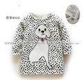 Новый 2014 весна осень одежда детская с пуловеры девушки мода хлопок вязаный свитер дети собака вязание рубашка