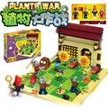 New plants vs zombies struck game toy action toy & figures Building Blocks Bricks brinquedos toys my world minecraft