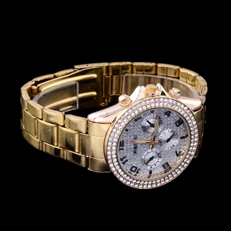 Top Brand Fashion Gold Watches Luxury Rhinestone Watch Women Watches Full Steel Quartz Watch Hour relogio feminino reloj mujer hot sale womens luxury silver watches fashion hollow dial watch full steel quartz watch ladies watch hour clock relogio feminino