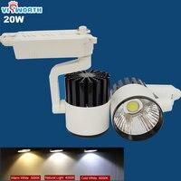 Modern 20w led cob track light ac 110v 220v 230v 240v rail light spotlight warm white/cold white led bulb Knob switch LED LAMP