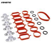 Vehemo Aluminium Rubber Intake Manifold Seal Ring Intake Manifold Gasket Repair Kit Swirl Flap Blanking Plate Premium