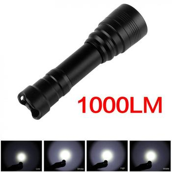цена на Brinyte Waterproof LED Diving Flashlight High Power Underwater 150m 1000lm XM-L2(U2) Lamp Torch + 18650 Battery + Charger