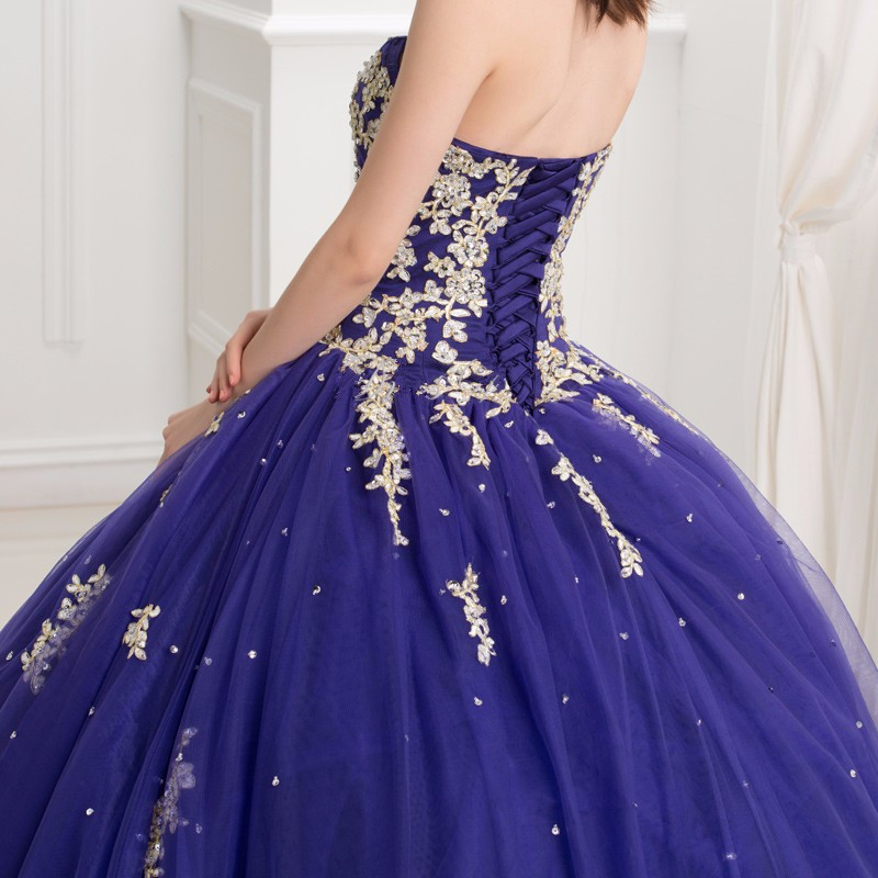 Dark-Royal-Blue-Ball-Gown-Quinceanera-Dresses-With-Gold-Lace-Applique-2016-Puffy-Sweet-16-Dress (4)