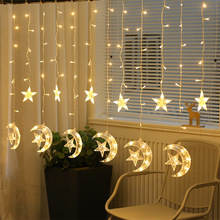 Christmas Decorations for Home Navidad 2019 New Year Star Moon Snowflake Led Curtain Lights String Natal Christmas Garland. Q недорого