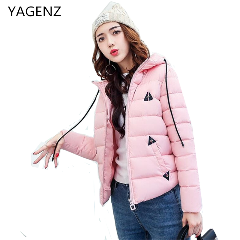 YAGENZ Factory Direct Women Winter Jacket Plus Size Warm Parkas Lady Hooded Cotton Coat Casual Lady Slim Winter Short Jacket 3XL down cotton winter hooded jacket coat women clothing casual slim thick lady parkas cotton jacket large size warm jacket student