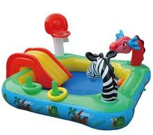 Bébé Grande Piscine Gonflable avec Toboggan Gonflable Piscine Enfant Bébé Enfants Infantile Baignoire gonflable bébé piscine