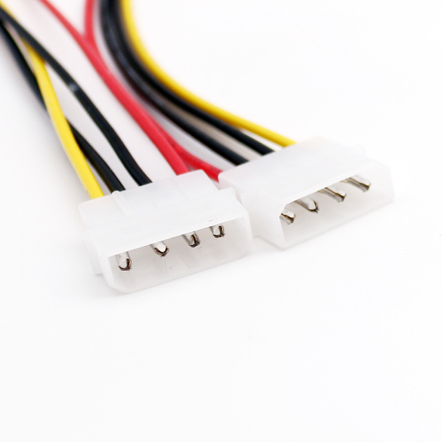 20x4 pin LP4 Molex Male naar 4 Pin Male Plug Power Extension Adapter Connector Kabel 30 cm/ 1ft