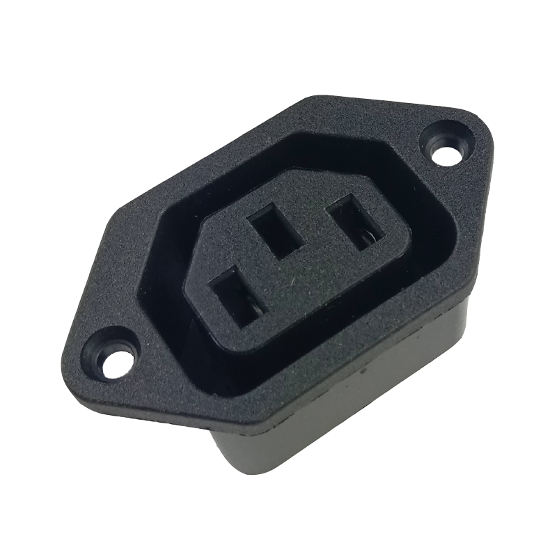 AC power socket AC <font><b>250V</b></font> <font><b>10A</b></font> <font><b>3Pin</b></font> IEC320 C13 Female Panel Mount Power Inlet Socket industrial Rewiring connector holder image