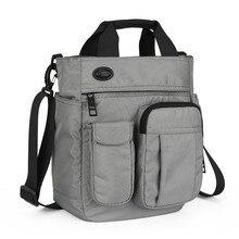 Multifunctional Shoulder Messenger Bag with Headphone Hole Waterproof Nylon Travel Handbag Shoulder Bag Men Leisure Bag