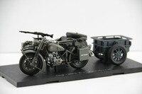 Classic Toy Model 1:24 BM W R75 World War II German,Yangtze 750 Wheeled Motorcycle Sidecar for Boy Gift,Decoration,Collection