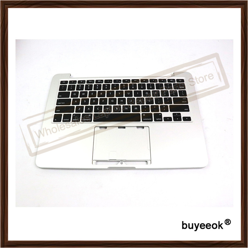 Original Laptop Replacment For Apple MacBook Pro A1502 2013 13 Retina Top Case Palmrest + Keyboard 613-0984-A Without Touchpad laptop palmrest for acer as5940 5940g 5942 5942g 60 pfq02 001 ap09z000400