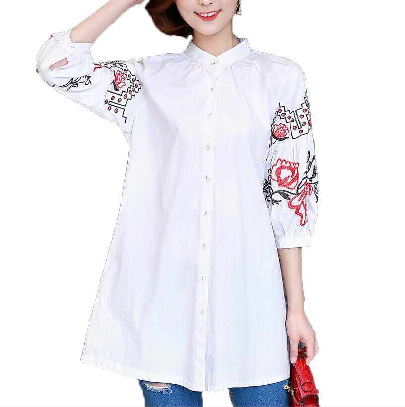 Рубашка с вышивками народная