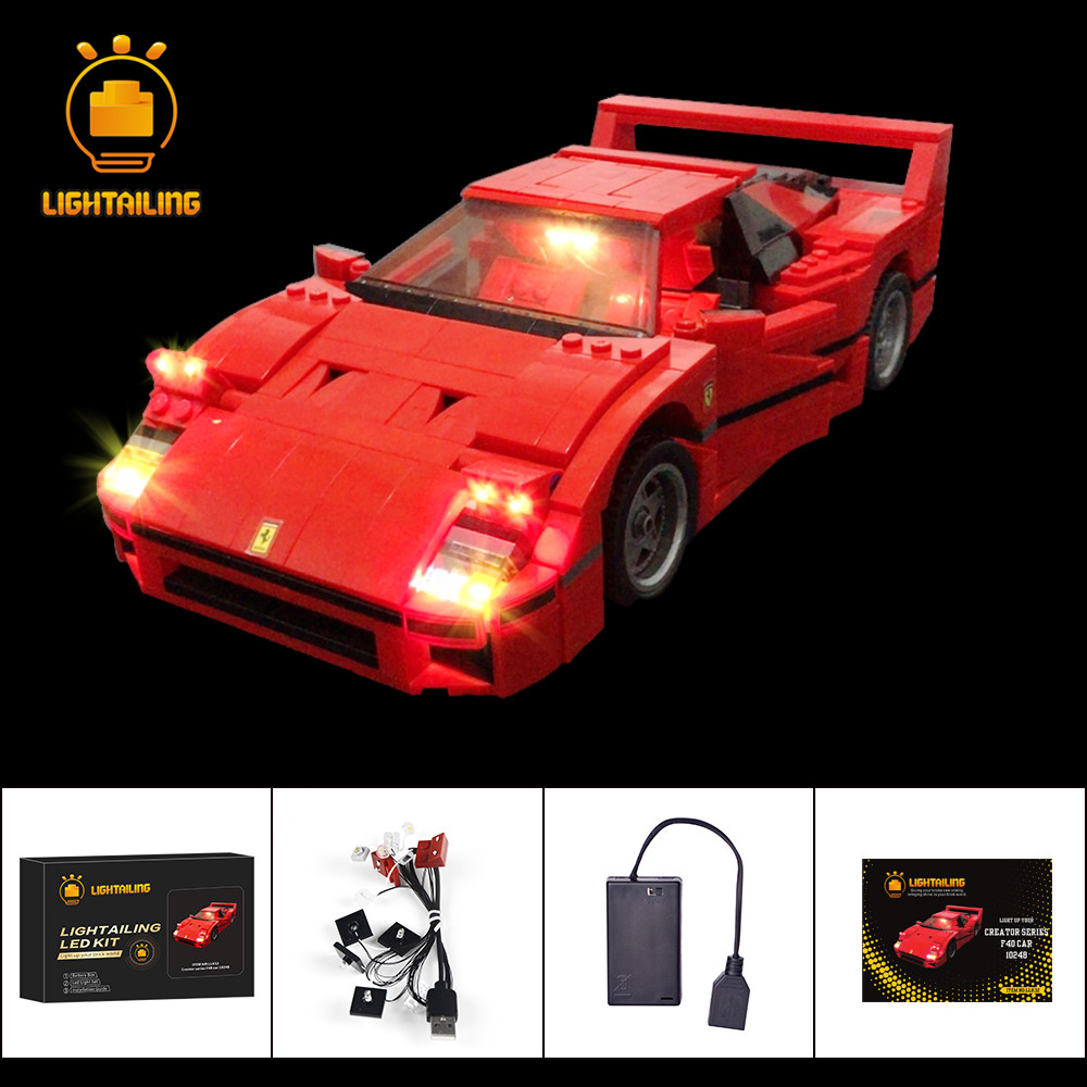 LIGHTAILING Led Light Up Kit For Creator Series F40 Car Building Block Light Set Compatible With 10248LIGHTAILING Led Light Up Kit For Creator Series F40 Car Building Block Light Set Compatible With 10248