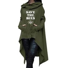 Save the bees scarf neck pullover sweater