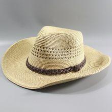 Chapéu de palha do homem da qualidade superior praia da borda larga tampão dobrável osso grande homem mais tamanho chapéu fedora 58 cm 60 cm 62 cm