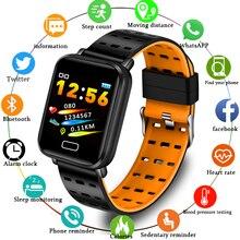 Sport Smart Bracelet Heart Rate Blood Pressure Monitoring Smart Wristband Pedometer Fitness Tracker Smart watch men women+Box
