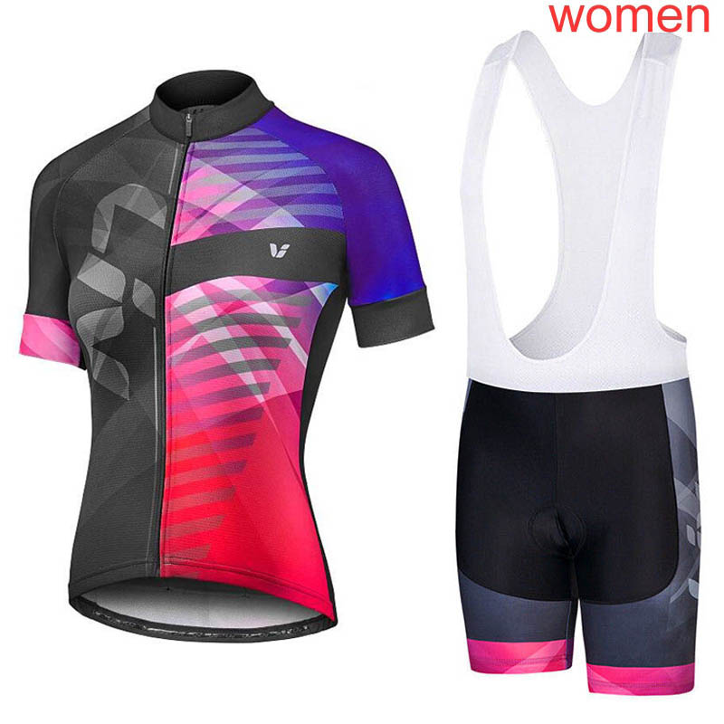 2019 New Breathable Women's Bicycle Jersey Summer Outdoor Sportswear Racing Bike Clothes Short Sleeve Cycling Jerseys Suit K1601 Refreshing And Enriching The Saliva