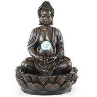 Home Decoration Buddha Water Fountain Decoration Resin Water Fountain Home Sitting Room Desktop Decoration 110V 220V