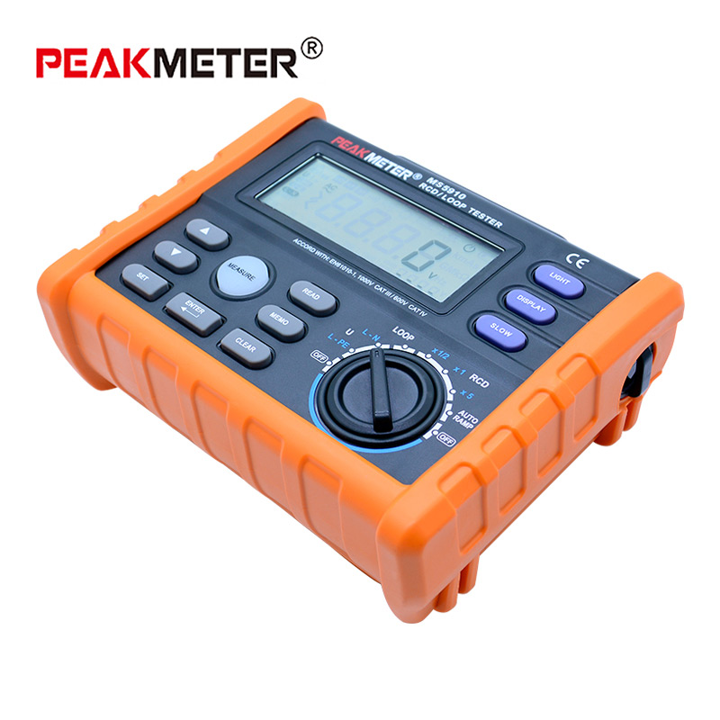Tools : PEAKMETER MS5910 Digital resistance meter RCD loop resistance tester Multimeter for GFCI Loop resistance  testing