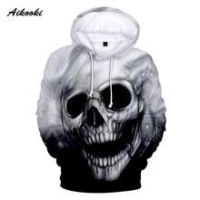 Hot Skull 3D Hoodies Skull Áo Người Đàn Ông Phụ Nữ Áo Nỉ Hipster Hip Hop Sọ Thể Thao Bộ Đồ Thể Thao