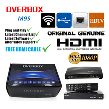 OVERBOX M9S DVB-S2 HD Satellite Receiver Wifi Build in Support IPTV Support Card Sharing NEWCAM MGcam web tv in support