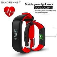 P1 Smartband Часы Кровяное Давление Bluetooth Смарт Браслет Монитор Сердечного ритма Браслет Деятельность Фитнес для Android IOS Телефон