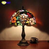 Фумат настольные лампы витражная стеклянная лампа светодио дный светодиодная прикроватная лампа для изучения пастырской гостиной бар нас