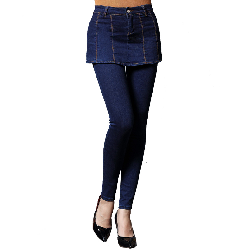 Jeans Women High Waist 2017 Spring Popular Skinny jeans Woman Plus Size Fashion CulottesThin Stretch Pencil Pants Denim Trousers 2017 spring autumn women plus size elastic waist jeans slim fashion high waist black casual office stretch pencil denim pants