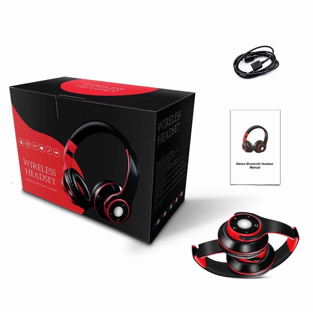 Bluetooth 5.0 Stereo Headphone dengan Mikrofon Kompatibel dengan Samsung Iphone Ipad Smartphone, PC, TV dan Laptop Tablet Audio