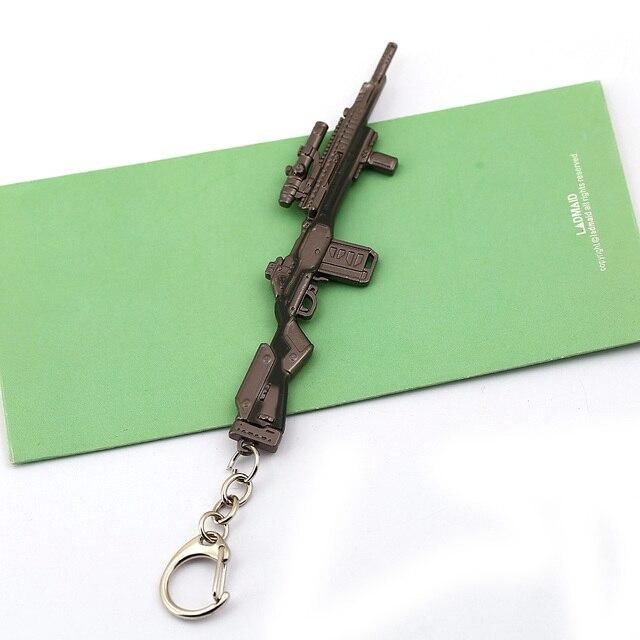 Jeu Apex légendes pistolet porte-clés hommes métal arme modèle porte-clés voiture porte-clés femmes Cosplay bijoux llaveros hombre bibelot nouveau